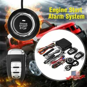 Car One button Start System Kit Keyless Entry Alarm Remote Control Us Ship