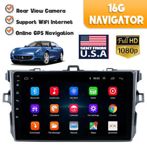 For Toyota Corolla 2006 2012 Gps Navigation Car Stereo Radio Wifi Tp Android 9 1