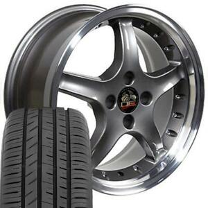 Oew Fits 17 Anthracite 4 Lug Cobra Wheels Rims Tires Mustang Gt