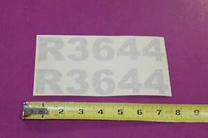 Montana Tractor R3644 Decals Acquired From A Closed Dealership See Pic
