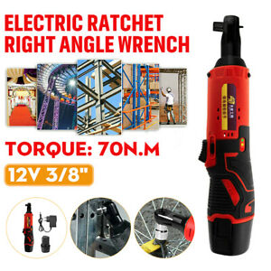 12v 3 8 electric Ratchet Wrench Degree Power Tool Cordless W 2 Battery charger