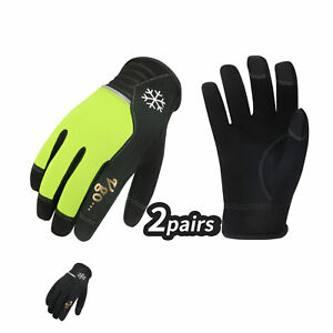 Vgo 2pairs Winter Work Gloves High Dexterity Cold Storage Touchscreen al8772