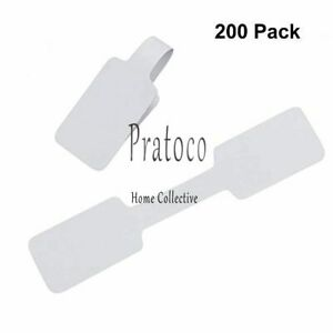 200 Pcs Blank Jewelry Sticker Price Tags Necklace Ring Jewelry Labels Paper