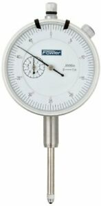 Fowler 52 520 129 Agd Dial Indicator White Face 1 Travel 0005 Reading 2 25