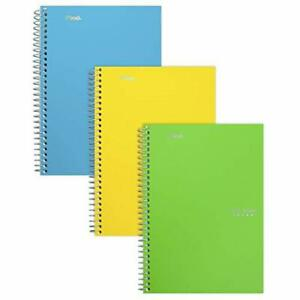 Five Star Spiral Notebooks 2 Subject College Ruled Paper 100 Sheets 9 1 2 X