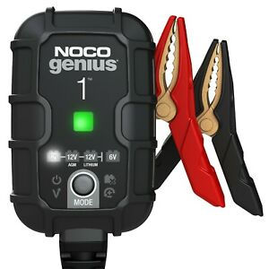 Noco Genius1 1 amp Fully automatic Smart Charger 6v And 12v Battery Charger New