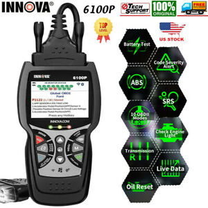 Innova 6100p Abs Srs Obd2 Scanner Battery Test Code Reader Oil Reset Diagnostic
