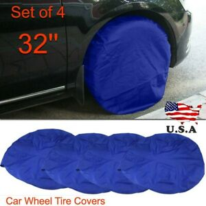 4x 32 Wheel Tire Covers Wheel Protective Cover For Rv Truck Car Camper Trailer