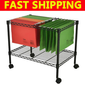 Single Tier Metal Rolling Mobile File Cart 23 6 X 12 6 X 18 Office Supplies Hot