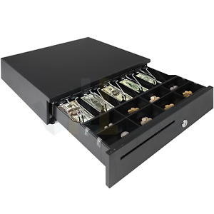 Cash Drawer Electronic Point Of Sale 5 Bill 8 Coins Removable Money Tray