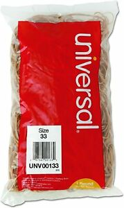 Universal Rubber Bands Size 33 1lb Pack Unv00133 Rubber For Home Office Use