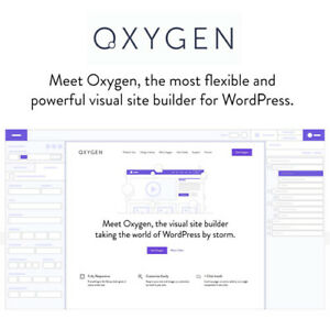 Oxygen 3 7 The Visual Website Builder Wordpress Plugins And Themes
