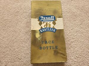 Vintage 1950 s Rexall Kantleek Rubber Face Bottle W Original Box