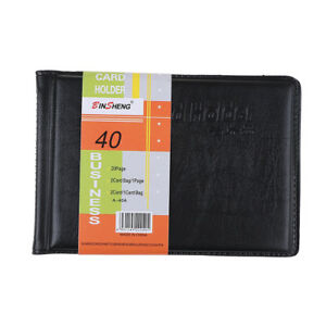 Leather 40 Card Commercial Name Id Credit Card Book Case Holder Organizer A g