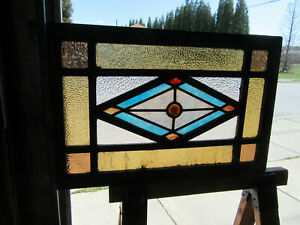 Antique Stained Glass Transom Window 32 X 21 Architectural Salvage