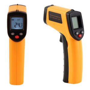 Non Contact Lcd Ir Laser Digital Infrared Temperature Thermometer Gun Pyrometer