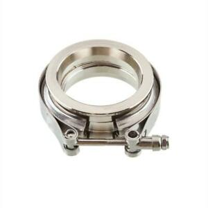 2 5 Stainless Ss 304 V Band Flange Clamp Kit Male Female Exhaust 2 5 Vband