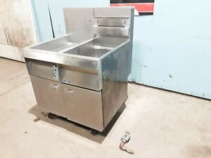 Pitco Frialator F14s cv Heavy Duty Nat Gas Commercial Fryer And Dump Station