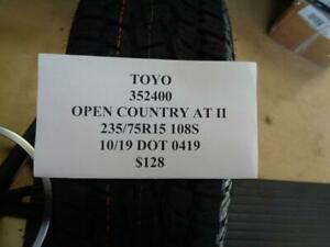 1 New Toyo Open Country At Ii Owl 235 75 15 108s Tire 352400 Q1