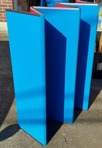 Downing Displays Folding 6 Panel 360 Table Top Display blue complete