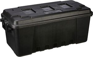Pickup Truck Bed Storage Tool Box 68 Quart Tote Black Garage Trailer Trunk Chest