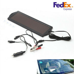 12v Solar Battery Maintainer Waterproof Car Rv Charger Tender Trickle 1 8w Usa