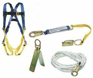 Werner K111201 Roofing Kit 50 foot Basic Pass thru Buckle Harness 1per Pack