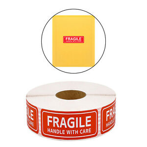 1 Roll Fragile Warning Stickers For Safe Shipping Handy Adhesive 1 x3