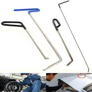4pcs Rods Tools Hail Repair Kit Paintless Dent Removal Puller Sets For Car Door