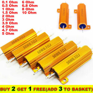 50w 0 1 10 Ohm Power Wirewound Resistor Inverter Led Light Frequency Divider Nhy