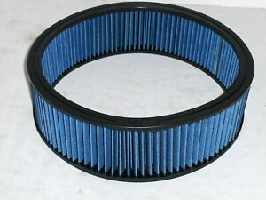 14 X 4 Blue High Flow Washable Reusable Air Cleaner Filter Element Replacement