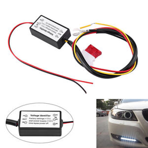 Car Led Daytime Running Light Automatic On Off Controller Modules Drl Relay Kit
