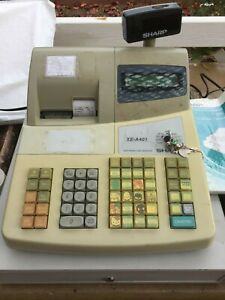 Sharp Electronic Cash Register Model Xe a401 Good Condition