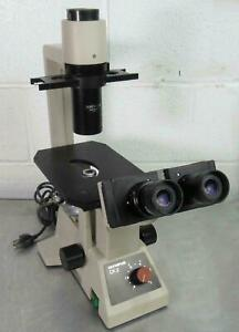 Olympus Ck2 Inverted Phase Microscope With Splan Caplan Pl Objectives