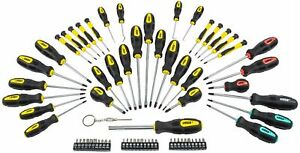 Jegs 69 pc Magnetic Screwdriver Set Awls Torx Square Phillips Slotted Bits 80755