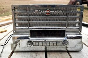 Vintage 1949 1950 Plymouth Push Button Am Radio Mopar