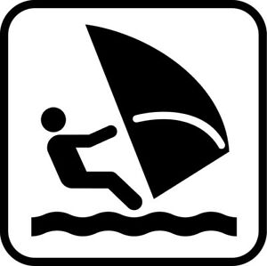 Square Metal Sign Multiple Sizes Wind Surfing Recreation Parks Forestry Camping