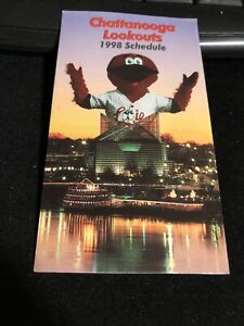 1998 Chattanooga Lookouts Baseball Pocket Schedule Fm Verson Reds Affiliate