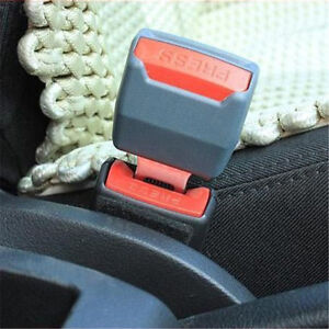 Auto Car Seat Belt Buckle Clip Extension Extender Safety Alarm Stopper Universal