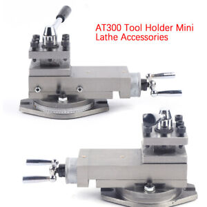 At300 Lathe Tool Post Assembly Holder Mini Lathe Accessories Metal Change 80mm