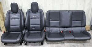 2012 45th Anniversary Chevy Camaro Ss Black Leather Seat Set Used Oem Gm