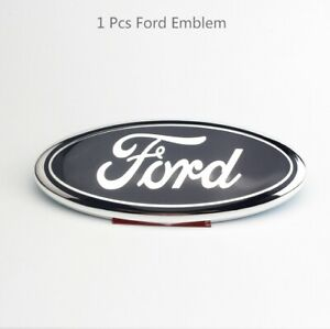 One 9 inch Ford Logo For The Front Grille Back Door Logo Blue And Silver Logo