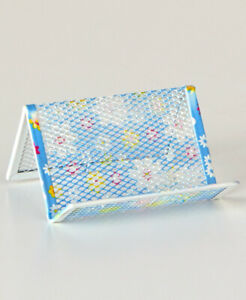 Spring inspired Daisy Print Desktop Collection Business Card Holder