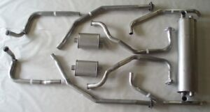 1962 1964 Electra Electra 225 Dual Exhaust System With Resonators Aluminized
