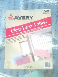 Avery Clear Transparent Easy Peel Address Labels 5662 Laser 1 1 3 X 4 1 4