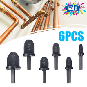 6pcs Air Conditioner Copper Pipe Swaging Tool Hexagon Handle Tube Expanders Usa