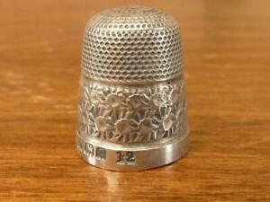 A Nice Antique Small Henry Griffith Thimble Hallmarked Silver Birmingham 1902
