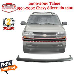 Front Bumper Face Bar Upper Cover For 2000 06 Tahoe 99 02 Chevy Silverado 1500