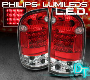 For 2001 2004 Toyota Tacoma Pickup Lumileds Led Red Clear Tail Lights Left Right