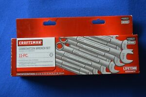 Craftsman New 11 Pc Metric Combination Wrench Set 8 15 17 19 Mm 44822 457